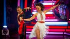 Natalie Gumede and partner Artem Chigvintsev in the Strictly final
