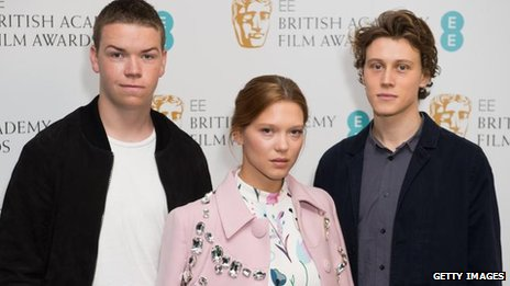 Will Poulter, Lea Seydoux and George MacKay at the Bafta Rising Star nominations launch