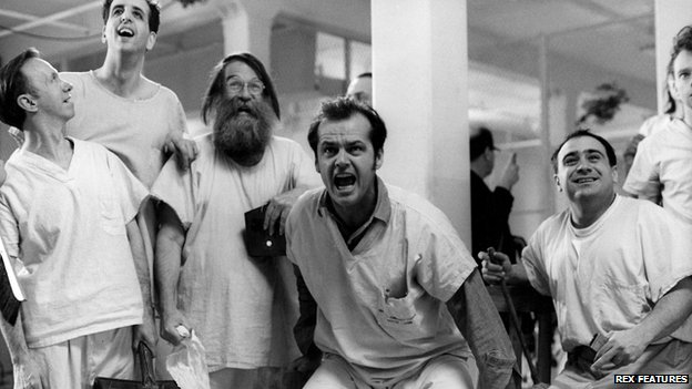 Jack Nicholson starred as a patient on a psychiatric ward with a healthy disrespect for authority in One Flew Over The Cuckoo's Nest
