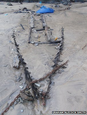 Newly discovered wreck in Newquay
