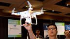 Aerial photography is the focus of products like the DJI Phantom 2 Vision quadcopter, which has a 14 megapixel camera on board that can shoot still images and video.  It is controlled with a smartphone and has a 25-minute flight time. An in-built GPS device returns it to base if it accidentally flies out of range.
