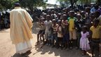 Catholic priests lead a special Christmas Day mass in Bangui, Central African Republic on 25 December, 2013