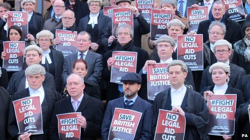 Solicitors and barristers outside Birmingham Crown Court