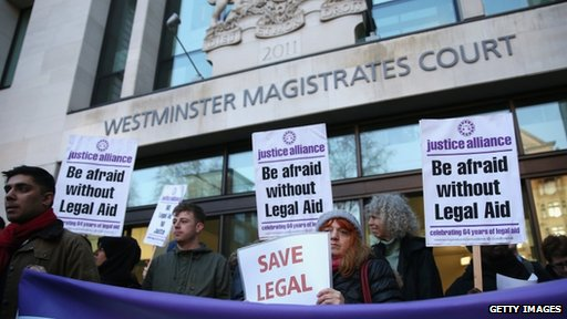 Protest at Westminster Magistrates' Court