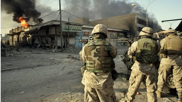 US troops in Fallujah in 2004