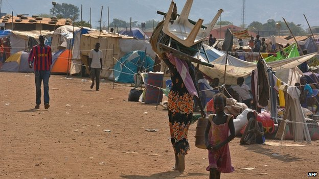 Internally Displaced People's camp in Juba (4 January 2014)