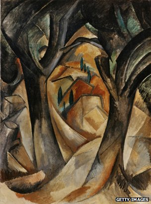 Arbres a la Estaque (Georges Braque 1908)