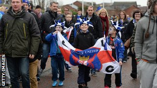 Carlisle United fans arrive at the Stadium of Light before the FA Cup Third Round match with Sunderland