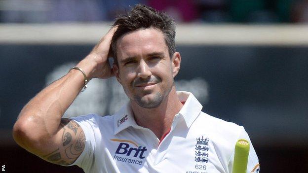 England batsman Kevin Pietersen
