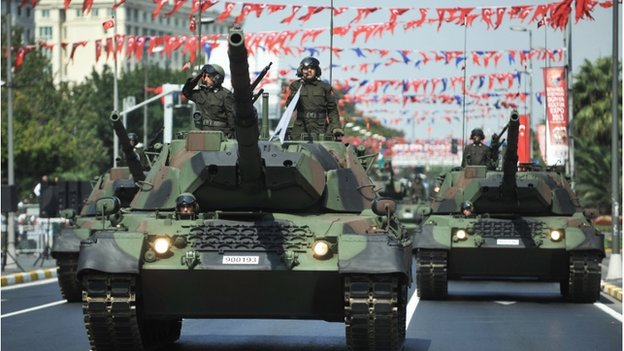 Turkish army on parade