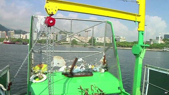Eco-boat in Guanabara Bay