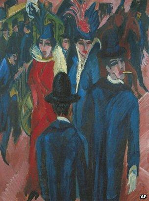 """""""Berlin Street Scene"""" (Ernst Ludwig Kirchner, 1913)"""