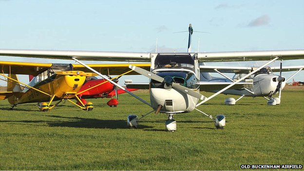 Planes at Old Buckenham Airfield