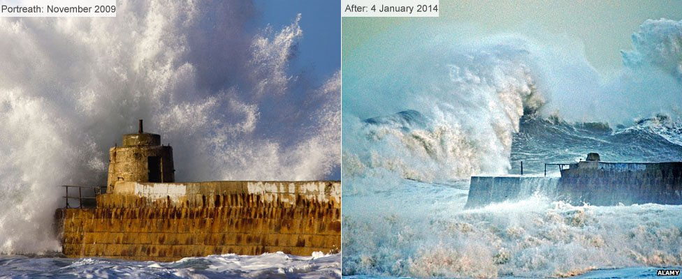 Portreath before and after