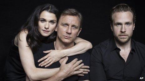 Rachel Weisz, Daniel Craig and Rafe Spall