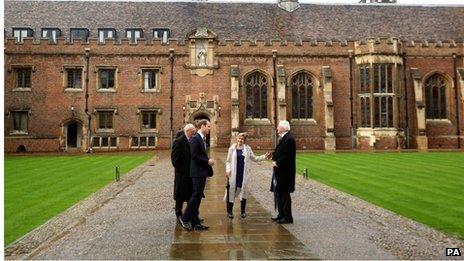 Duke of Cambridge at St John's College, Cambridge