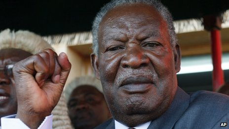 Michael Sata in Lusaka (September 2011)