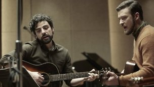 Oscar Isaac and Justin Timberlake in Inside Llewyn Davis