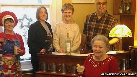 'Pub' opened at Grangefield care home in Earls Barton, Northamptonshire