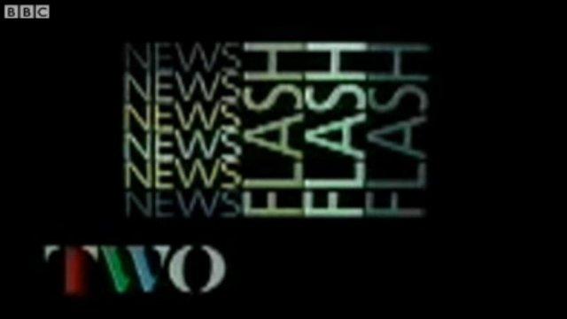BBC Two newsflash graphic