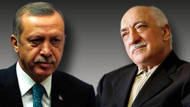 Turkish PM Erdogan and Islamist cleric Fethullah Gulen