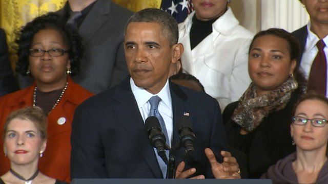 US President Barack Obama on 7 January 2014