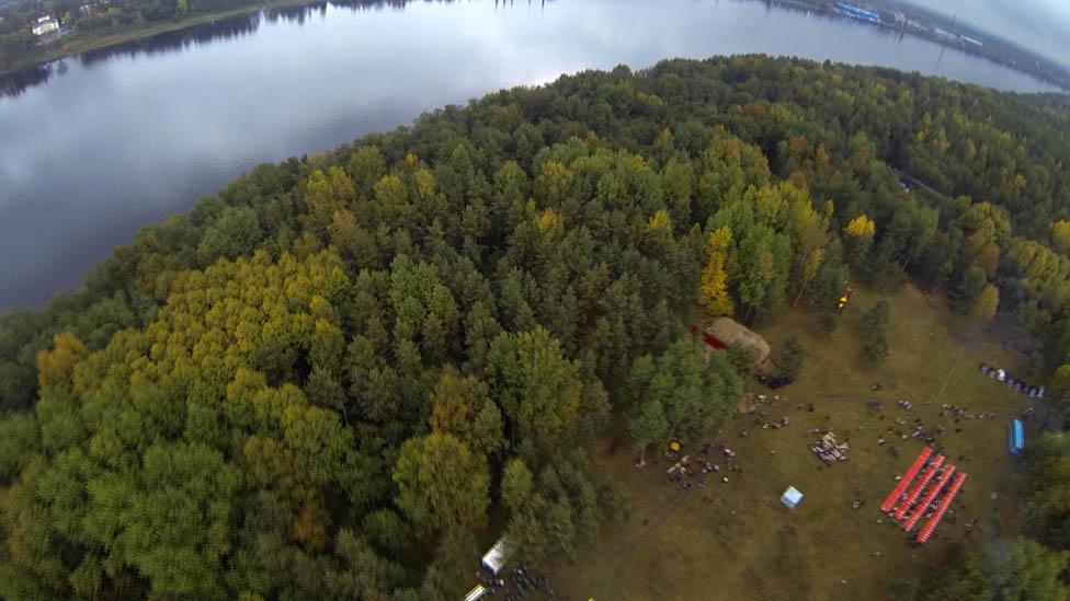 Burial site next to River Neva
