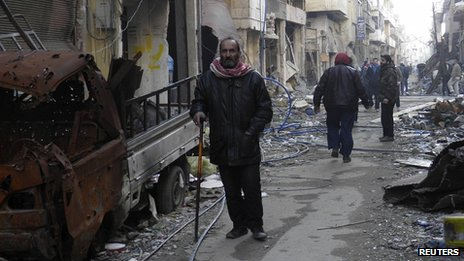 Damage in Homs