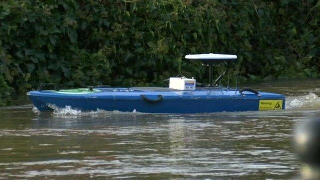 Float boat on river