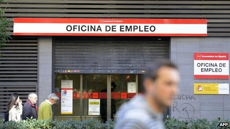 Government employment office in Madrid