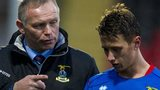 Inverness manager John Hughes has a word with Danny Williams