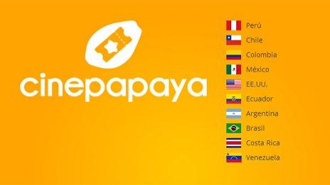 Cinepapaya's website homepage