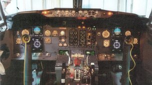 Cockpit similar to that on Flight 92