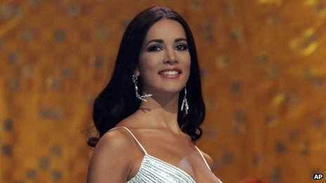 Monica Spear competes at the Miss Universe competition in Bangkok, Thailand on 31 May, 2005