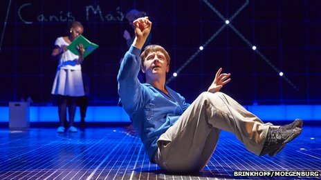 Rakie Ayola and Mike Noble in a scene from The Curious Incident of the Dog in the Night-Time