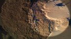 Aerial view of SHH-60G Pave Hawk helicopter crash site at Cley next the Sea, Norfolk