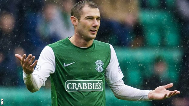 Hibernian midfielder Kevin Thomson