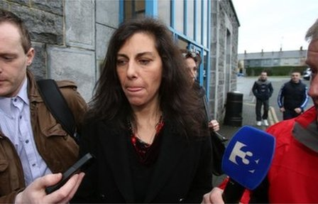 Jennifer Lauren leaves Ennis Courthouse in County Clare