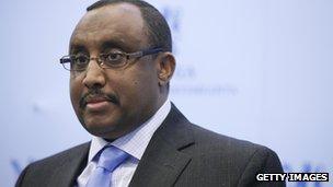 Puntland's president Abdiweli Mohamed Ali