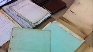 Documents belonging to Lt Col John Stewart