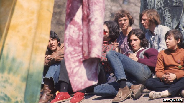 Hippies in 1970