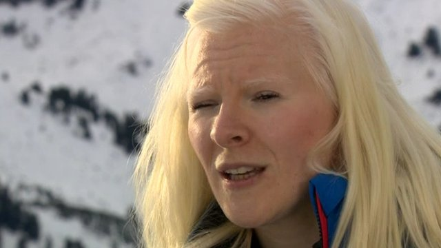 Visually impaired skier Kelly Gallagher
