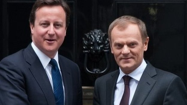 David Cameron and Donald Tusk outside Downing Street in 2011