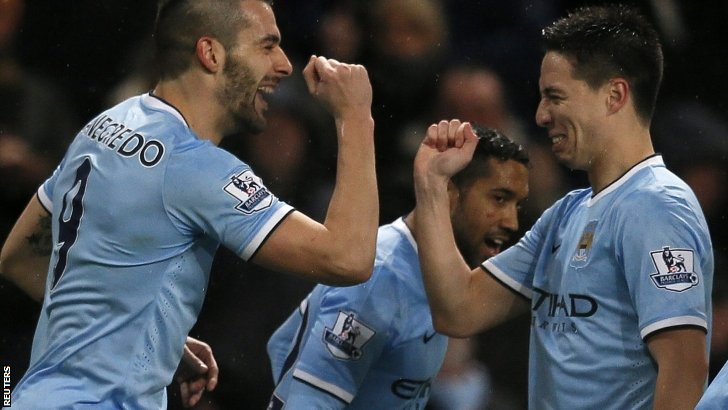 Alvaro Negredo (left) and Samir Nasri