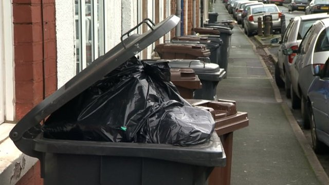 Bins on Wolverhampton street