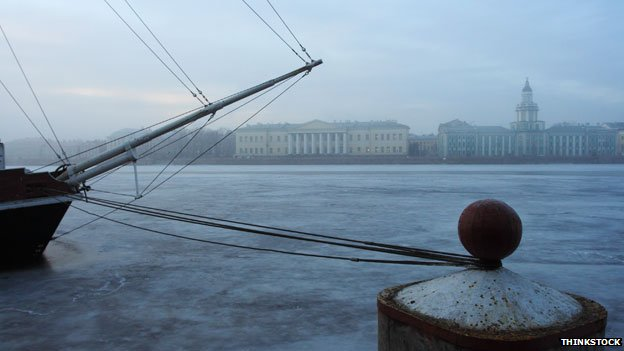 Boat and Neva River