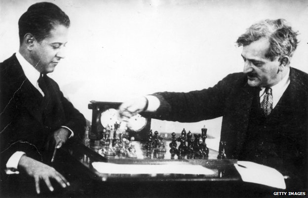 Jose Raul Capablanca plays Emanuel Lasker in 1923
