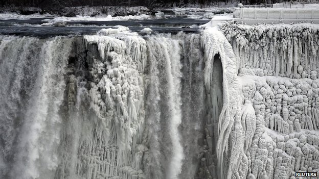 The US side of the Niagara Falls is pictured in Ontario