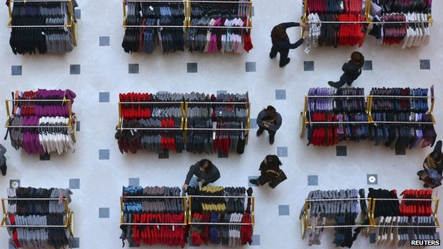 File photo: Customers shopping in China