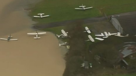 Redhill Aerodrome under water